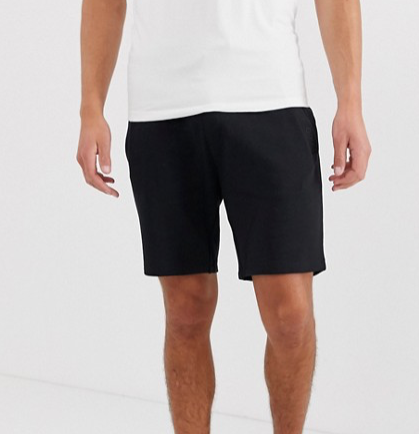 Diz-U1 jersey shorts in black