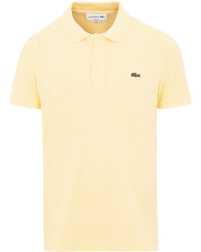 Lacoste slim fit logo polo in yellow