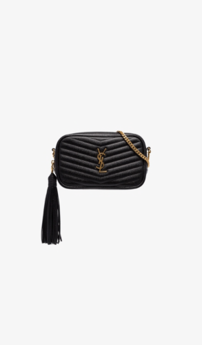 Black Loulou Leather Shoulder Bag