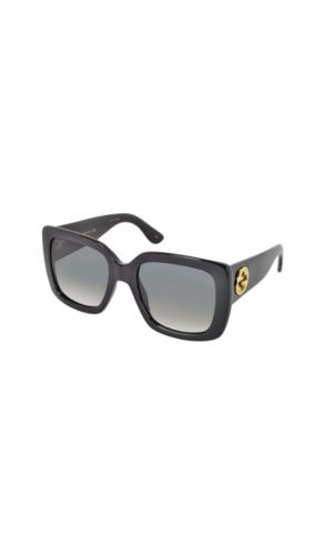 Black Oversized Square Frame Women's Sunglasses
